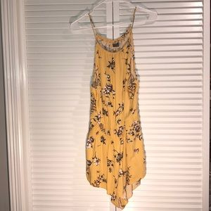 RARE Brandy Melville Yellow Floral Blanche Romper